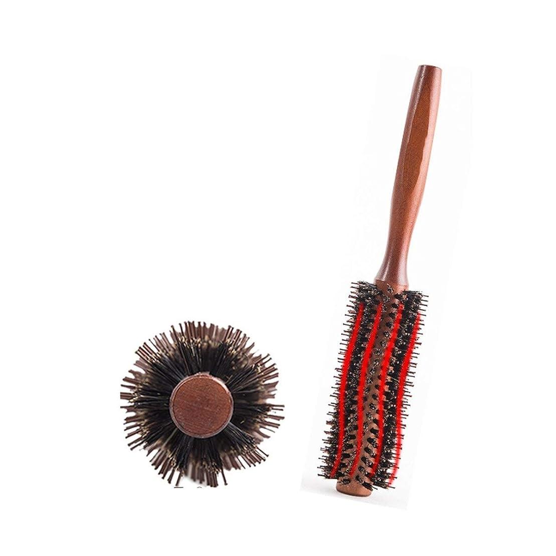 Fengkuo 櫛、巻き毛の櫛、ふわふわの家庭用ロール櫛、理髪店特別な木製の櫛、ウッドカラー、2つのスタイル 櫛 (Design : A, Size : S)
