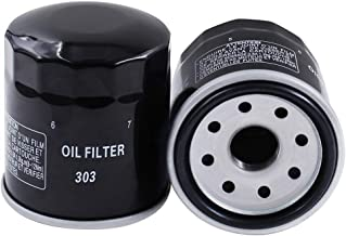 303 Oil Filter-2 Pack Motorcycle Oil Filter - for YAMAHA/POLARIS/HONDA/KAWASAKI Fits Multiple Makes and Models.