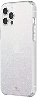 kate spade new york Protective Hardshell Case Compatible with iPhone 12 Pro Max - White Glitter Wash/Translucent White