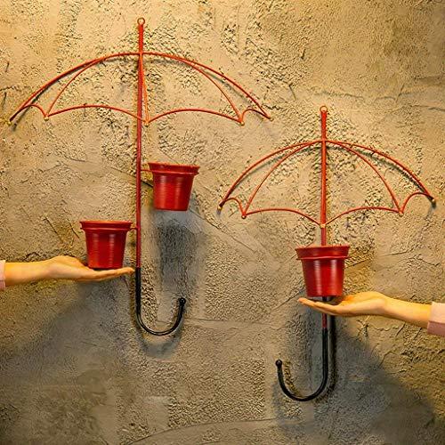 Stand de Fleurs Salon créatif Maison Parapluie en Fer forgé Suspendu Tenture Murale - JBP2,A