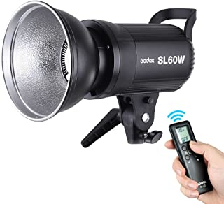 Andoer Godox SL-60W 5600K 60W High Power LED Video Light Wireless Remote Control with Bowens Mount for Photo Studio Photog...