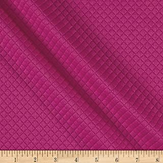 TELIO Mini Quilted Knit Diamond Fuchsia Fabric by The Yard