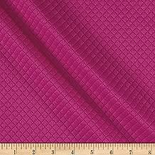 TELIO Mini Quilted Knit Diamond Fuchsia Fabric by The Yard