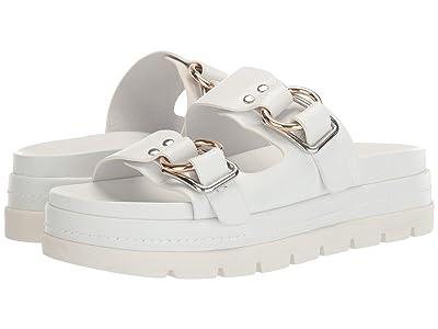 J/Slides Baha (White Leather) Women