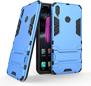 Huawei Honor 8X Case, Hybrid Armor Case [2 in 1] Lightweight Hard PC Cover + Flexible TPU Shock Absorption & Scratch Resistant with Kickstand for Huawei Honor 8X (2018) (6.5 inches) - Blue