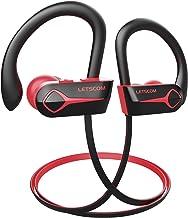 Letscom Bluetooth Headphones, 15Hrs Playtime Wireless 5.0 Earbuds IPX7 Waterproof Sport..