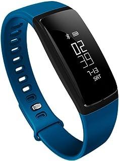 La Presión Arterial Mesa Pulsómetro Bluetooth Pulsera De Los Deportes Del Reloj Inteligente Desgastado Salud De Los Ancianos,Blue