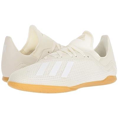 adidas Kids X Tango 18.3 IN Soccer (Little Kid/Big Kid) (Off-White/White/Black) Kids Shoes