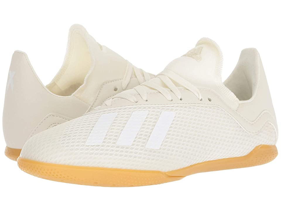adidas Kids X Tango 18.3 IN Soccer (Little Kid/Big Kid) (Off-White/White/Black) Kids Shoes