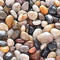 River Rock Stones - Natural Decorative Polished Mixed Pebbles Gravel, Small Decorative Polished Gravel?for Plant Aquariums, Landscaping, Ponds,terrariums Vase Fillers?DIY ?Home Decor etc. ?2.7lb