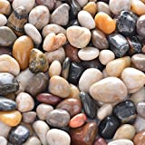10lb Natural Decorative Polished Mixed Pebbles - Pebbles Polished Gravel,Small Decorative River Rock Stones for Fresh Water Fish Animal Plant Aquariums, Landscaping, Home Decor etc. (160-Oz Bag)
