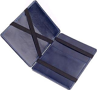 ZhaoCo Minimalist RFID Magic Wallet, Genuine Leather Slim Front Pocket Purse