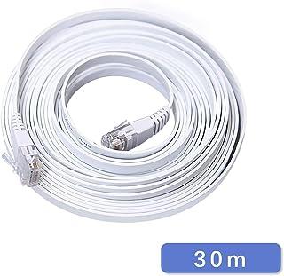 SOOHAO フラット LANケーブル 30m POE給電 LANコード RJ45 PC/ルーター用 POEカメラ用 CAT6
