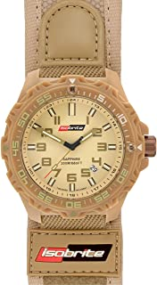 Isobrite ISO315 Valor Series Tan T100 Watch with Nylon & Velcro Band