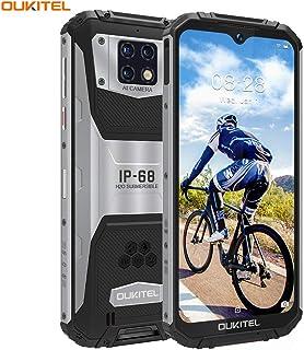OUKITEL WP6 SIMフリースマートフォン防水防塵耐衝撃防災 スマホ本体 10000mAhバッテリー6GB RAM 128GB ROM 48MP AI 3カメラHelio P70オクタコアプロセッサー6.3インチFHD+ 画面2340 * 1080解像度デュアルSIM Android 9.0 GPS OTG 1年間保証