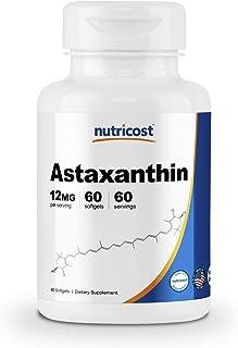 Nutricost アスタキサンチン 12mg、 60カプセル