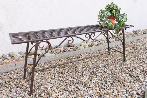 """Bank Sitzbank """"CUCCIU-XL"""" B-120 cm 77824 Gartenbank aus Metall Gartenmöbel - 3"""