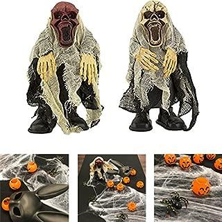 Adorox Walking Talking Light up Screaming Death Demon Skeleton Halloween Terror Decoration Flashing Prop Toy