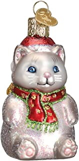 Old World Christmas Glass Blown Ornament with S-Hook and Gift Box, Christmas Collection (Winter Kitty)