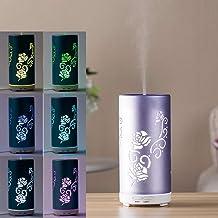 Household Appliances FEA J87 Portable Flower Pattern Aluminum Colourful Breathing LED Light 100ML Ultrasonic Mist Air Humi...