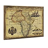 art.work - Lienzo decorativo (60 x 80 cm), diseño de mapa de África