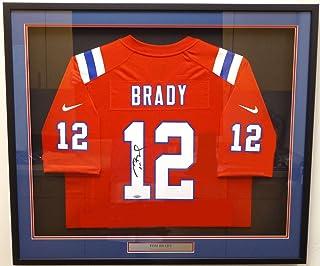 c23cb0f5b832f New England Patriots Tom Brady Autographed Framed Red Nike Jersey TriStar  Holo