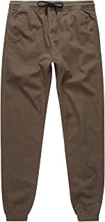 Charles and A Half Olive Twill Jogger Pants, Olive, Small