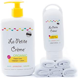 La Petite Creme - Organic French Diapering (Starter Kit with Washcloths) - USDA Certified Organic