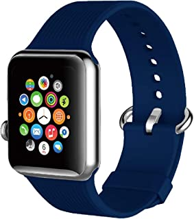 Promate Smart Watch Band, Flexible Silicone Sport Wrist Band Strap Replacement for Apple Watch 42mm/44mm with Sweat Resist...