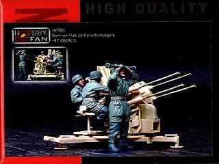 Hobby Fan 1:35 German Flak 38 Fallschirmjagers 4 Resin Figures Kit #HF700