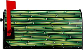 """Jolly2T Magnetic Mailbox Cover - 21""""W x 25.5""""H, Image of Horizontal Asian Bamboo Tree Stems Zen Style Image of Asian Nature Inspired,Mailbox Wraps Post Letter Box Cover"""