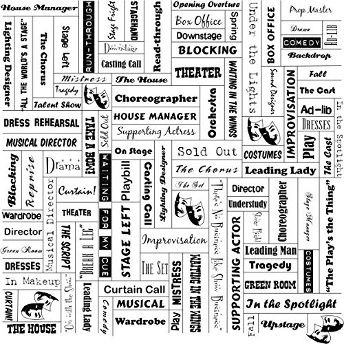 Drama Theater Words (14611) 12 Inch x 12 Inch Scrapbook Paper - 1 Sheet
