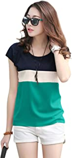 Women's Crepe Cap Sleeve T Shirt (10034-Top, Light-Green, Medium)