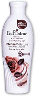 Enchanteur Cocoa Sensuelle Perfumed Body Lotion, 250ml, with Cocoa Butter & Argan Oil for Intense Moisture