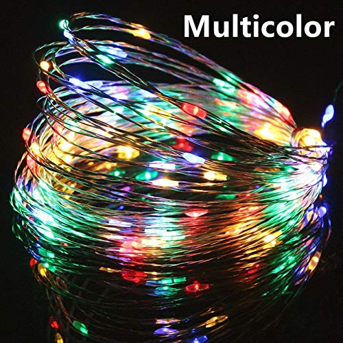 DC 5V USB LED String Lights 20M 10M 5M 2M Silver Wire Waterproof Fairy Light Garland For Home Christmas Wedding Party Decoration - Multicolor,2M 20LEDs