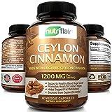 NutriFlair Ceylon Cinnamon (Made with True Ceylon Cinnamon) 1200mg per Serving, 60 Capsules -...