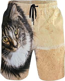 水着 サーフパンツ メンズ ねこ 猫 動物柄 かわいい5 メンズ ショートカーゴパンツ 半ズボン 夏 大きいサイズ 水陸両用 通気速乾 メッシュインナー付き 旅行 温泉 スポーツSMLXLXXL