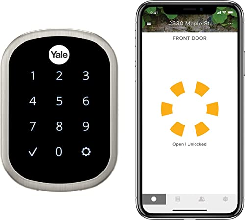 Yale Security YRD256-CBA-619 Yale Assure SL Connected by August Touchscreen Smart Lock, Satin Nickel