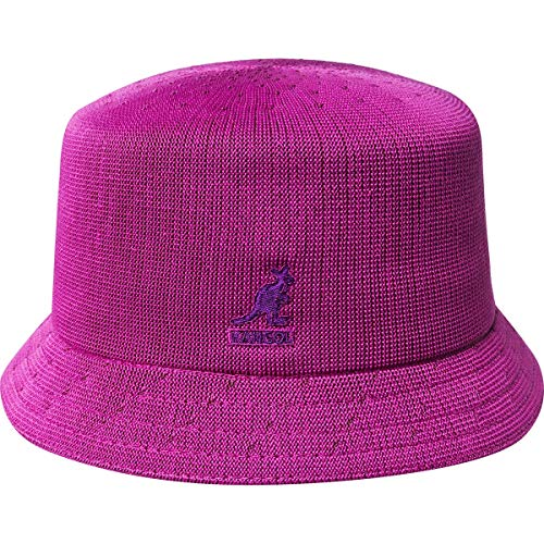 Kangol Tropic Bin Hut Stoffhut Fischerhut Anglerhut Clubhut Bucket Hat Musikerhut (S (54-55 cm) - pink)