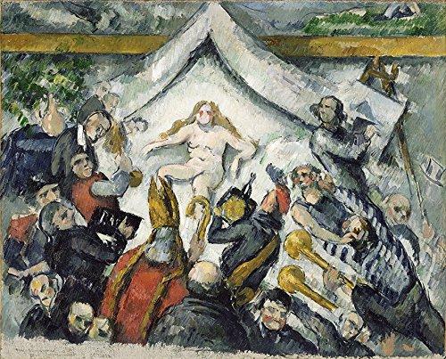 O Eterno Feminino Mulher Confrontada por Homens 1877 Pintura de Paul Cézanne na Tela em Vários Tamanhos (70 cm X 55 cm tamanho da imagem)