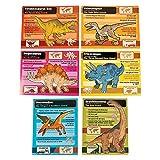 Fun Express Informational Dinosaur Posters Tyrannosaurus Rex, Pteranodon, Brachiosaurus and More (6 Piece Set) Classroom Learning Aids