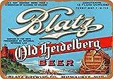 N / A Blatz Old Heidelberg Bier Vintage Retro Blechschild