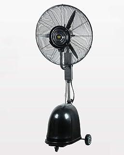 Ventilador de pie, nebulización de enfriamiento Humidificador de spray Atomización de torre silenciosa Ventilador oscilante vertical comercial Móvil giratorio industrial 3 velocidades