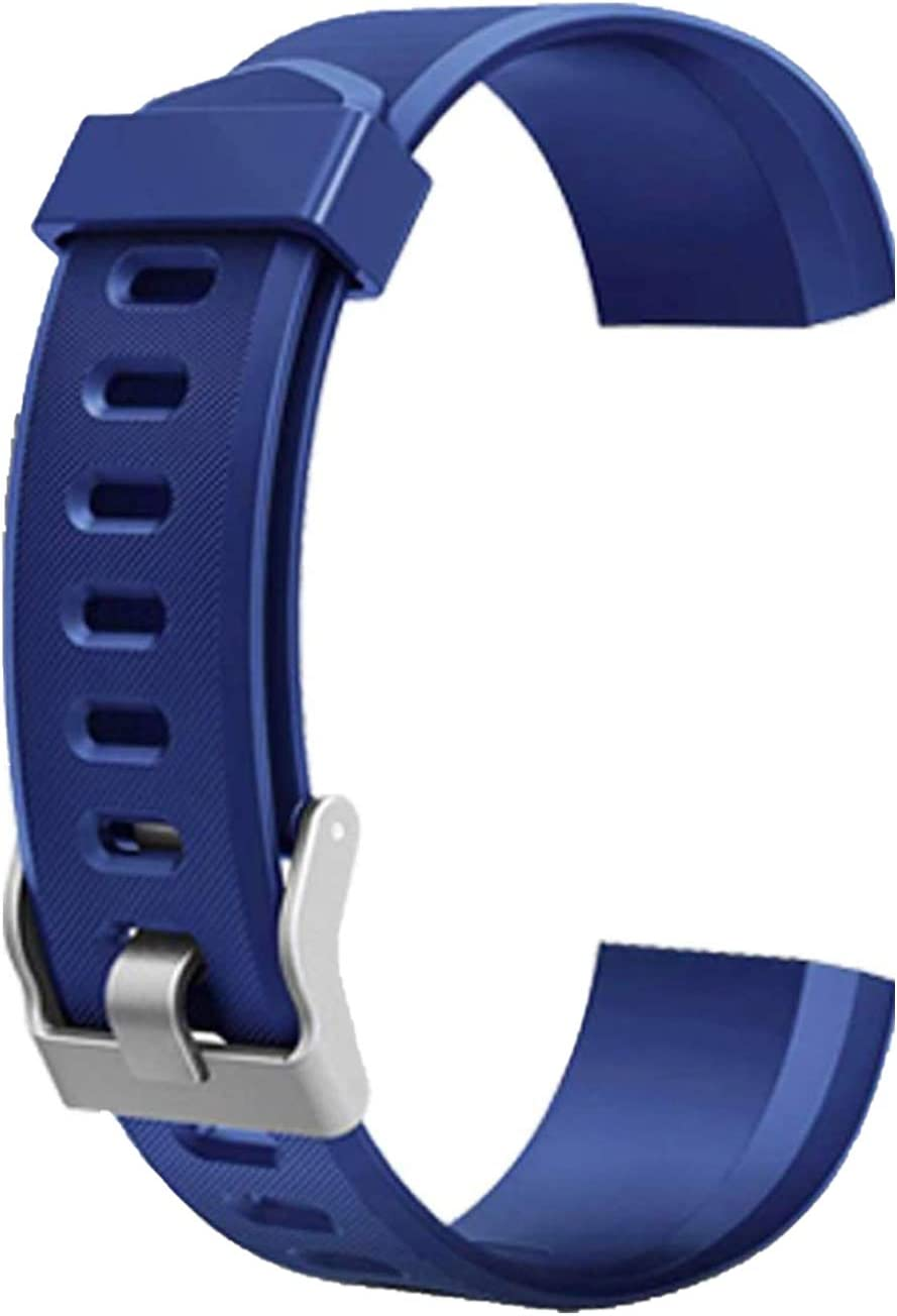 schicj133mm ID115 Plus HR Replacement Wristband-Adjustable Replacement Strap for Activity Tracker-Smart Sports Bracelet Silicone Strap Pure Color Blue