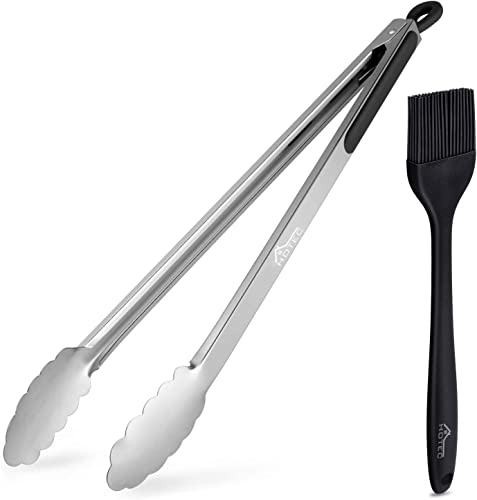 popular HOTEC 16 Inch Kitchen Tongs, Sturdy lowest Metal Locking Grill Tongs for Cooking Grilling high quality and Barbecue online sale