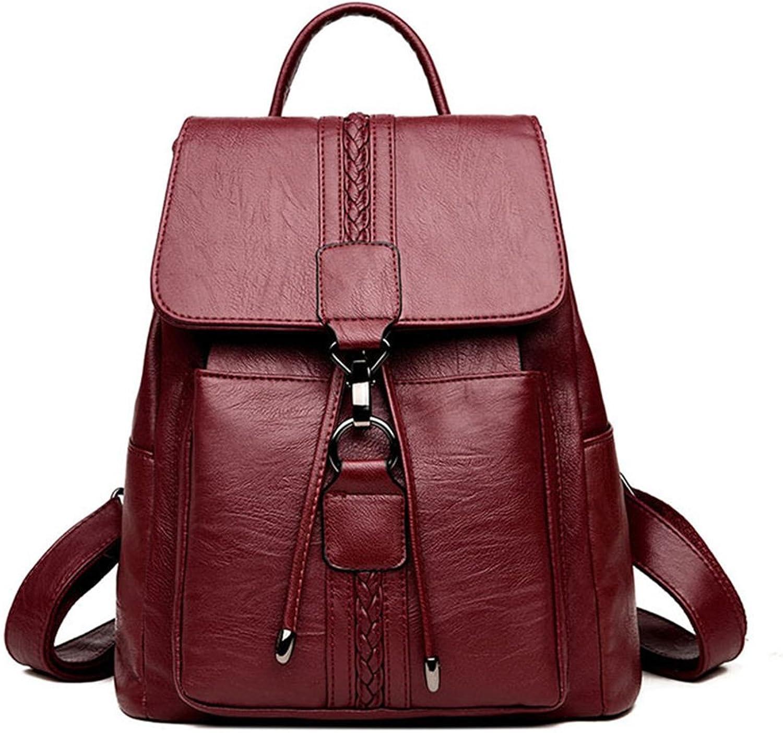 MIMI MIMI MIMI KING Mode Schule Rucksack Für Mädchen PU Leder Casual Reise Große Kapazität Multifunktionale Diebstahl Handtasche 31  28  14 cm B07F8LKW6C  Sehr gute Klassifizierung 79d892