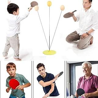 Lotuny Table Tennis Trainer Detachable Elastic Soft Shaft Table Tennis Trainer with 3 Table Tennis Balls & 2 Paddle & 2 Axle Flexible