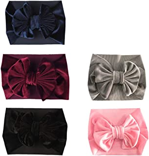 SuperiMan Wide Band Velvet Headband for Baby,Toddler Girls Bows Turban Head Wrap Hair Bands Photography Props Hairband