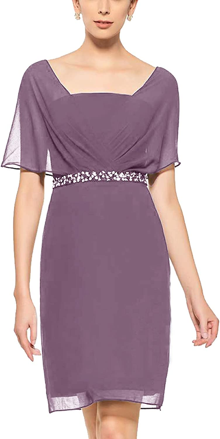 Newdeve Chiffon Mother Popular product of The Bride Length National products Women for Tea Dresses