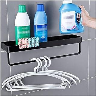 Salle de bain Etagère de cuisine en aluminium espace douche avec plateau Caddy porte-serviettes de douche rectangulaire Or...